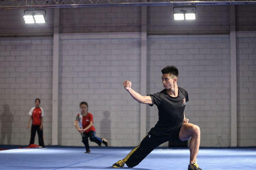Yong Yi Xiang semasa satu sesi latihan di Jakarta, Indonesia tahun lalu, telah memenangi pingat emas pertama Singapura di Sukan SEA ke-30 di Filipina hari ini. - Foto LIANHE ZAOBAO
