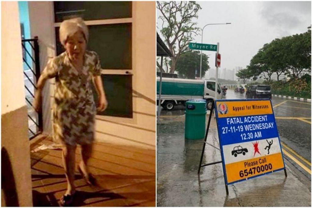 Cik Tay Kiat Eng, pekerja separuh masa di KFC, meninggal dunia setelah dilanggar teksi di Bukit Timah Road. FOTO: ENCIK RICHARD POH