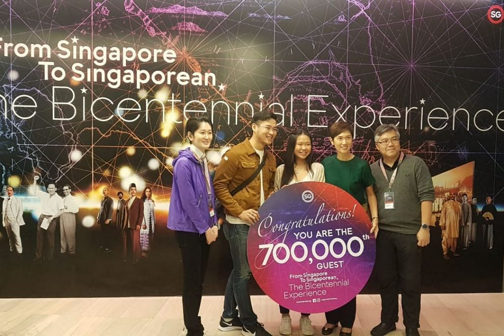 Bicentennial Experience exhibition's 700,000th visitor