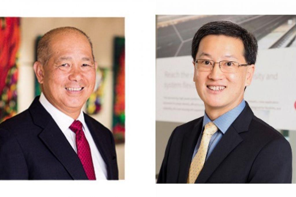 Encik Chong (kanan) akan menggantikan Encik Tan sebagai pengerusi ITE.