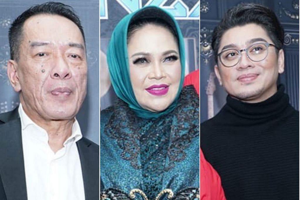 Dari kiri: Datuk Ramli MS, Hetty Koes Endang dan Datuk Rizalman Ibrahim