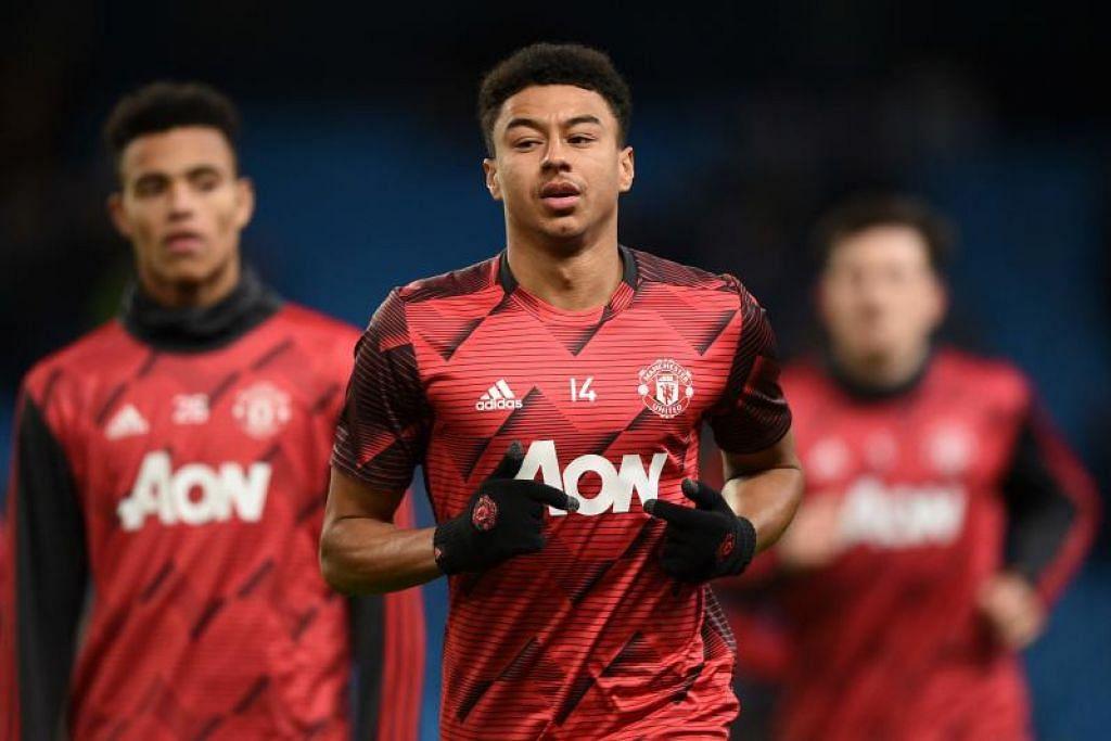 Pemain midfield Manchester United, Jesse Lingard (tengah). FOTO: AFP