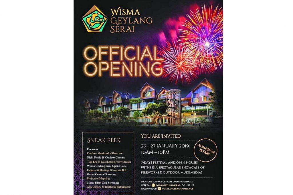Pembukaan rasmi Wisma Geylang Serai Pusat budaya Melayu MENJENGUK 2019