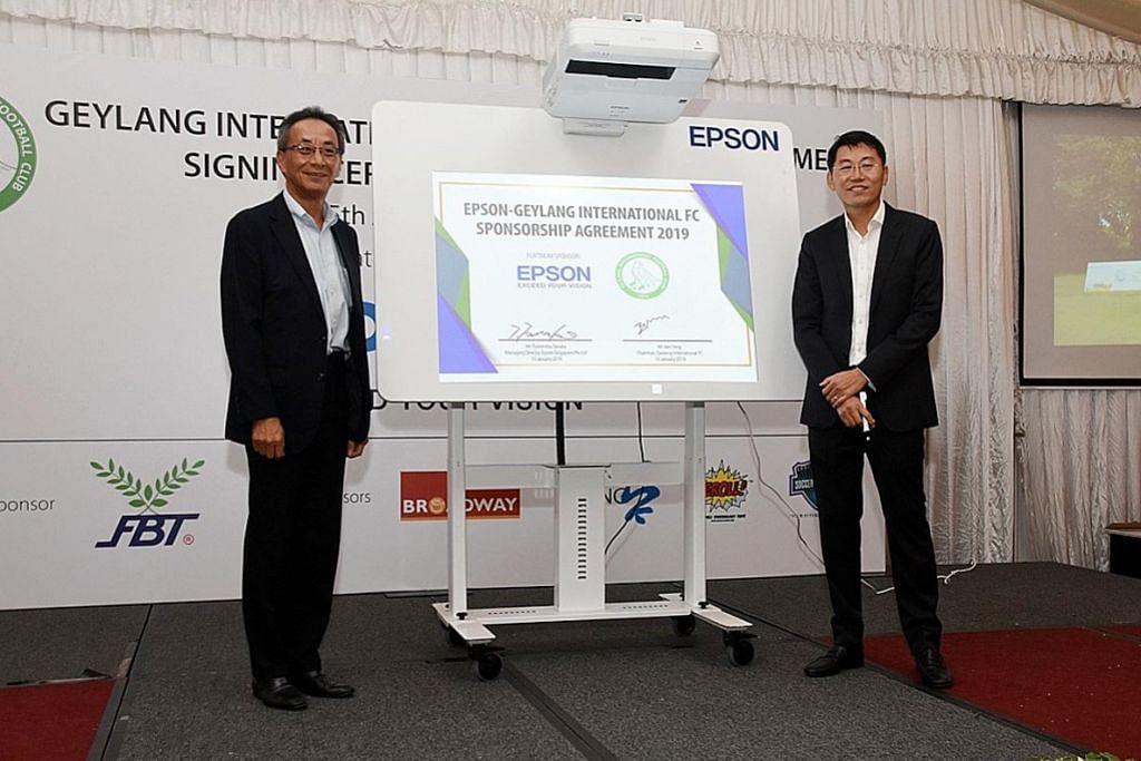 Epson, Geylang International lanjut kerjasama