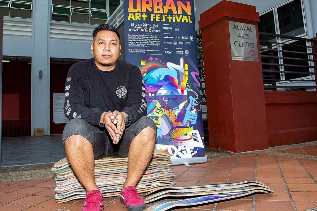 Seni jalanan warnai suasana di Kg Glam