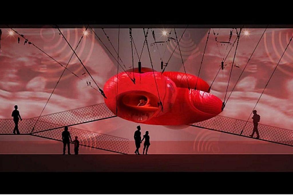 Merangkak dalam rahim ibu di pameran digital muzium