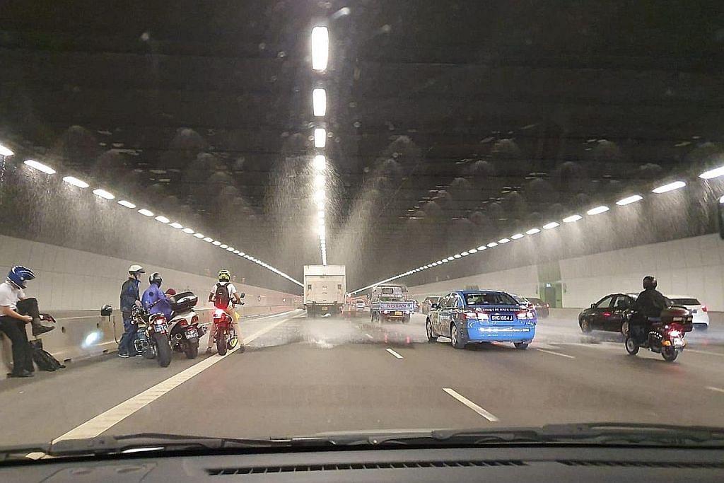 'Hujan' dalam terowong MCE