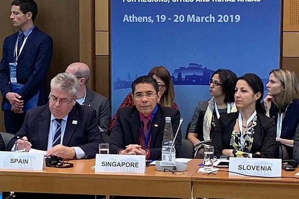 Maliki kongsi pengalaman S'pura di mesyuarat OECD di Athens