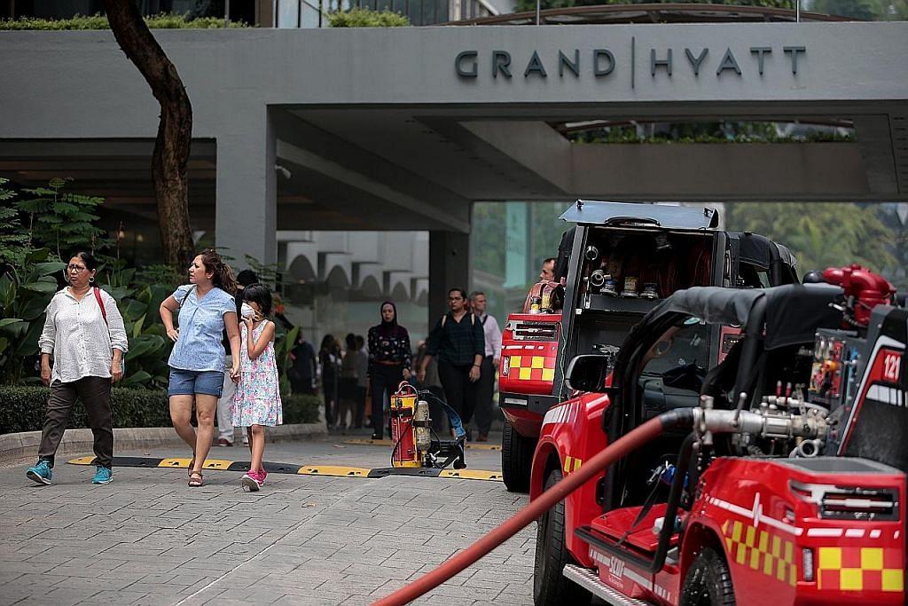 Sekitar 500 orang dipindahkan ekoran kebakaran di Hotel Grand Hyatt