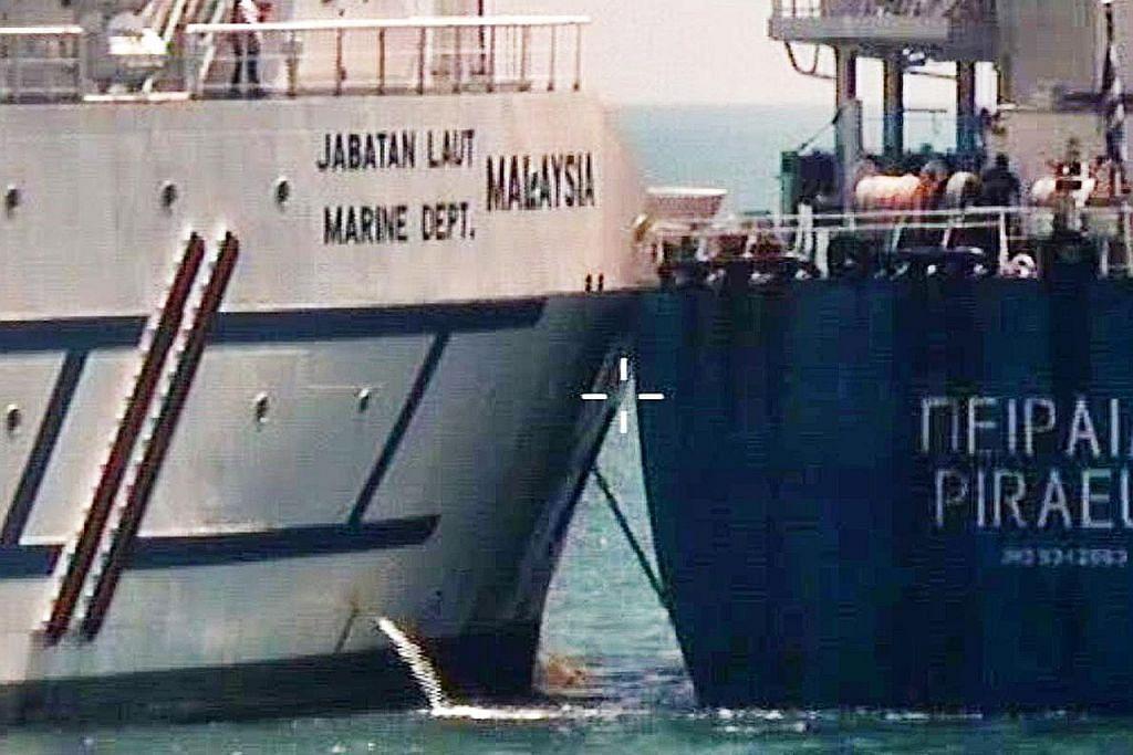 Insiden langgar kapal di Tuas: Kapal Pireas silap