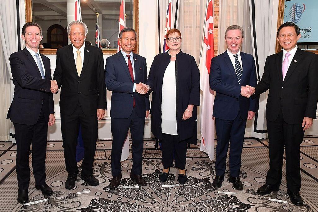 S'pura-Australia sahkan komitmen pertingkat kerjasama ketenteraan