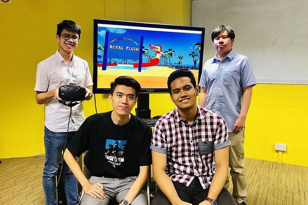 Pelajar TP hasilkan mainan realiti maya 'luncur air'