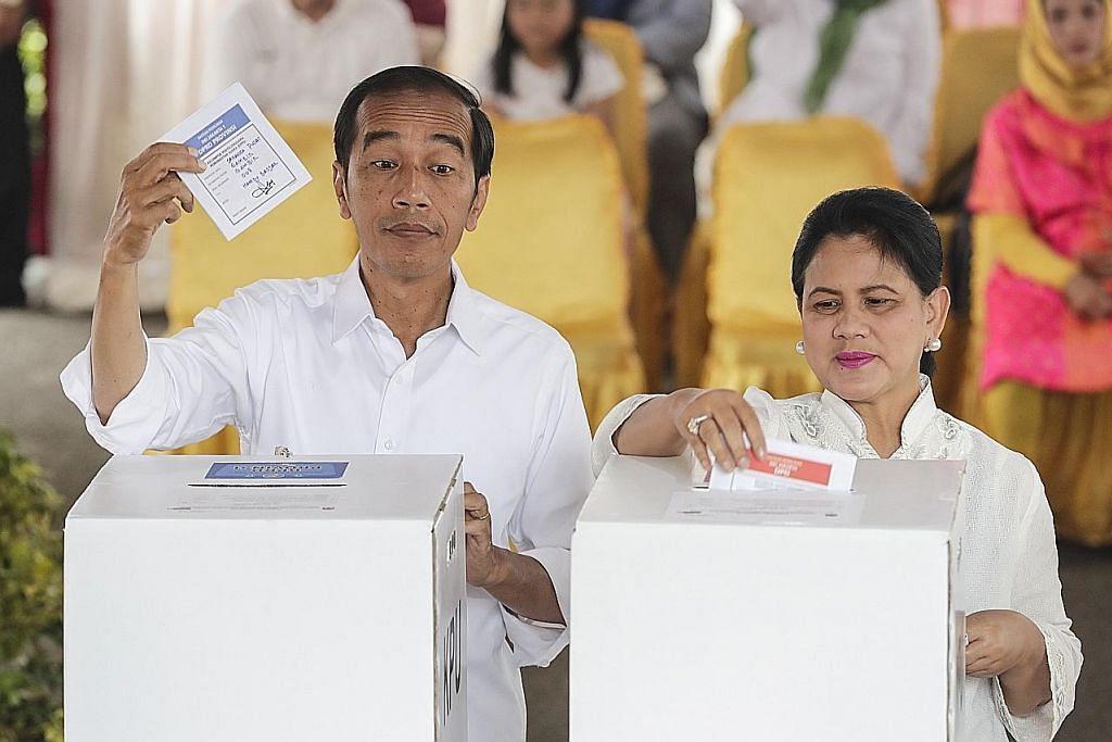 Kiraan awal: Jokowi atasi Prabowo dalam Pilihan Raya Presiden