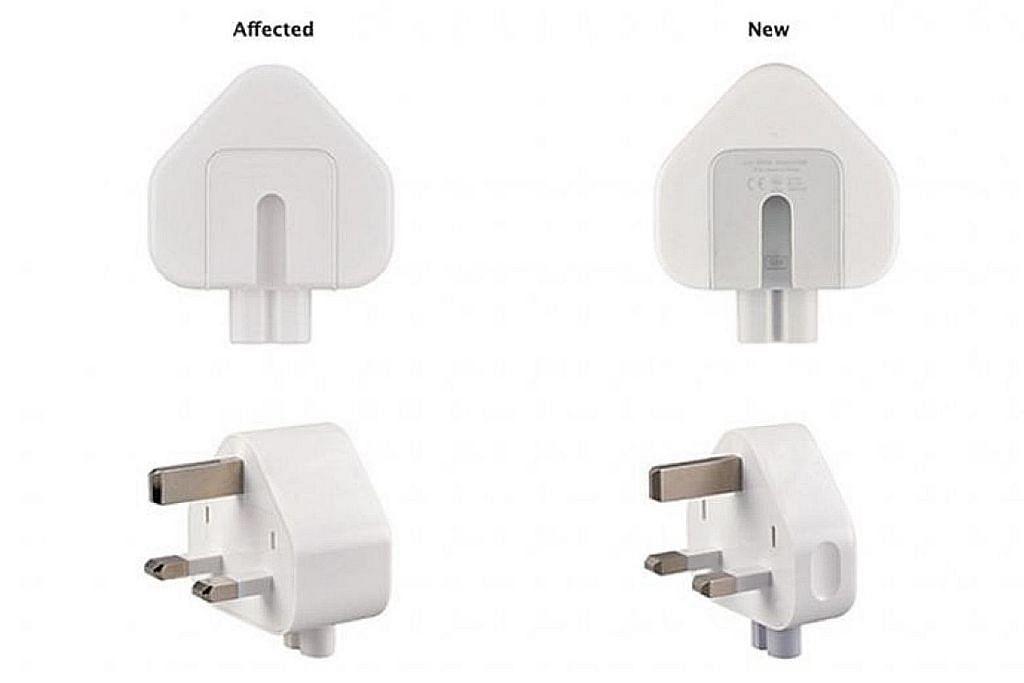 Apple tarik balik plag tembok tiga pin