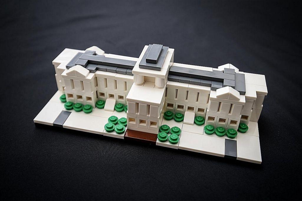 Presiden Halimah lancar model Istana eksklusif Lego