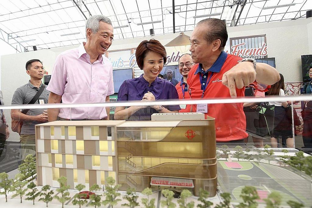 PM Lee 'pulang' ke tapak asal, lancar CC Hillview