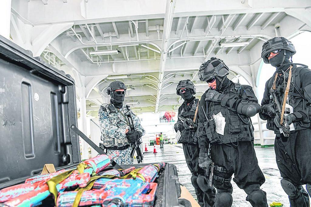 Latihan keselamatan maritim 18 negara berakhir di Singapura