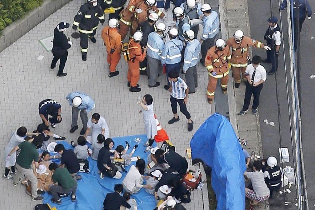 2 maut, 15 cedera dek serangan pisau di perhentian bas Jepun