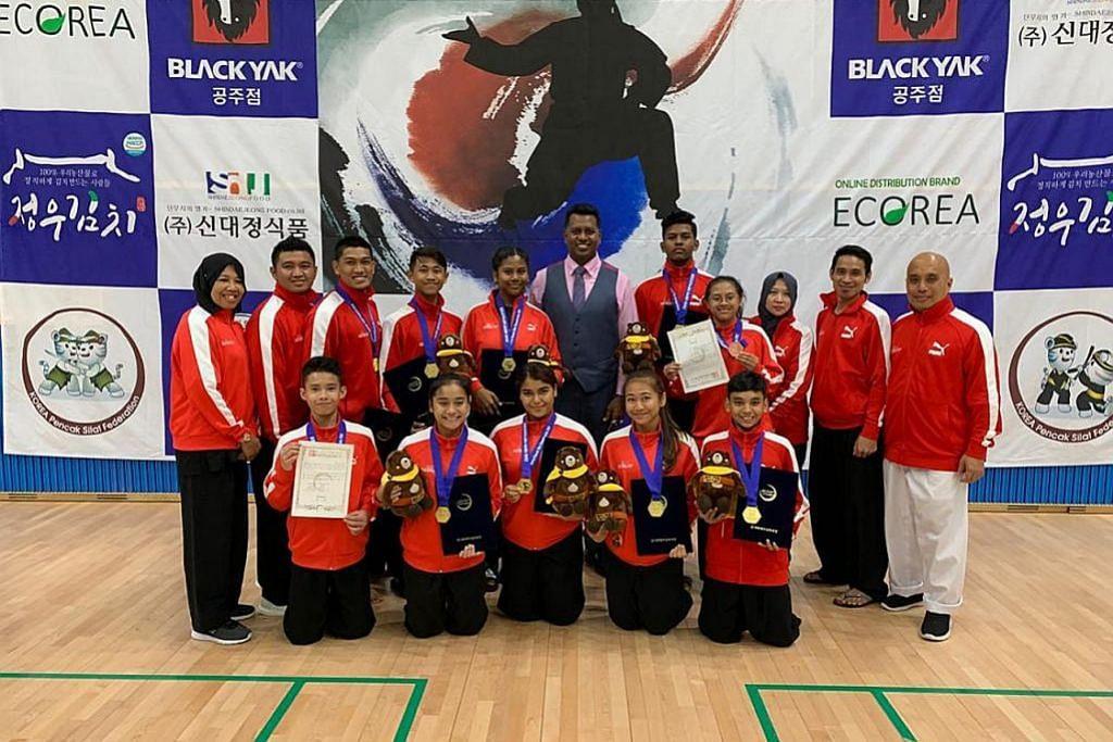 Pasukan silat S'pura gondol 7 emas dalam kejohanan di Korea
