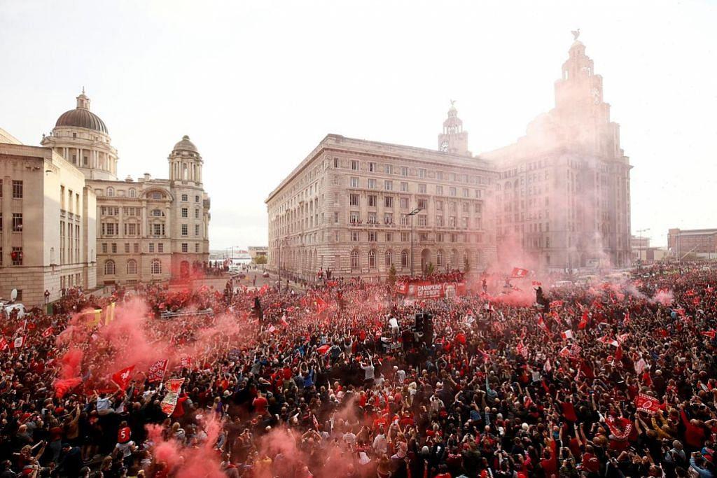 LIGA JUARA-JUARA EROPAH Ribuan penyokong Liverpool rai kemenangan
