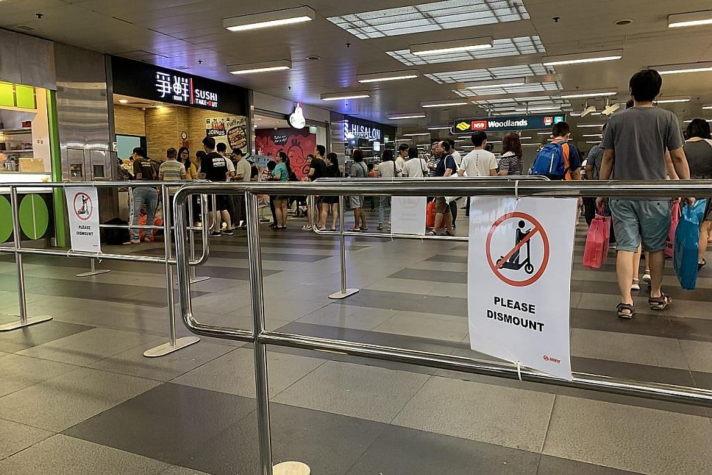 Usaha percubaan SMRT letak adangan di stesen MRT Woodlands
