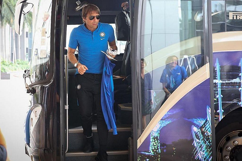 Inter Milan tiba di S'pura