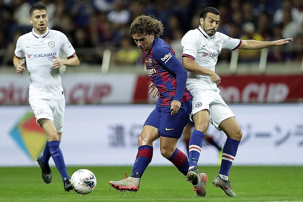 PERLAWANAN PERSAHABATAN BOLA SEPAK Chelsea tunjuk semangat juang tinggi tewaskan Barcelona