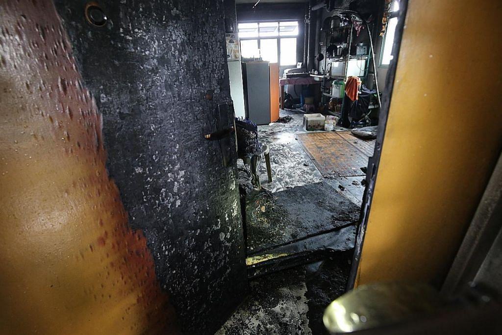 Flat terbakar di Sembawang dipercayai gara-gara PMD