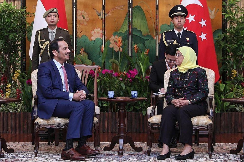 DPM Qatar lawat S'pura perluas kerjasama dua hala