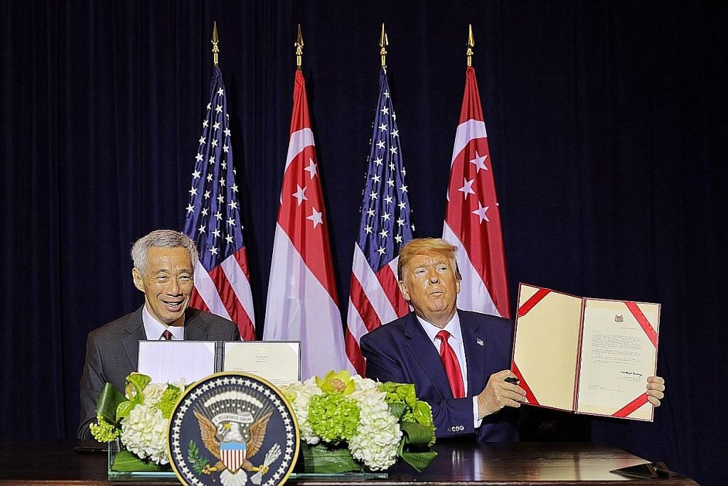 PM LEE HSIEN LOONG DI NEW YORK PM Lee, Trump perbaharui perjanjian pertahanan guna kemudahan S'pura hingga 2035