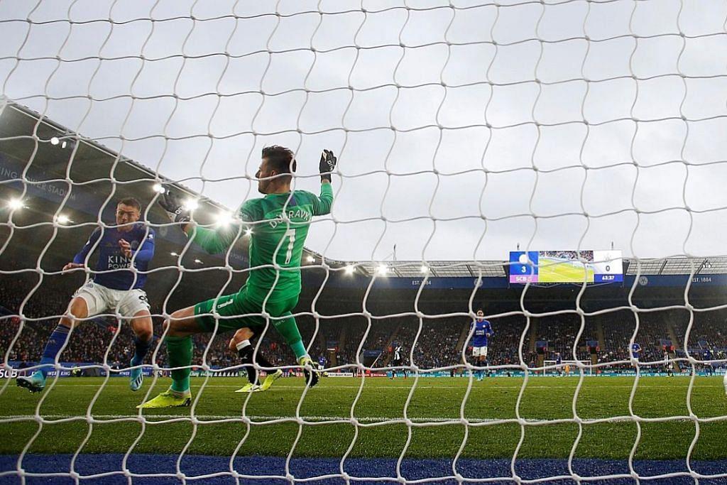 LIGA PERDANA ENGLAND Leicester tunjuk taring, Spurs bersemangat kental