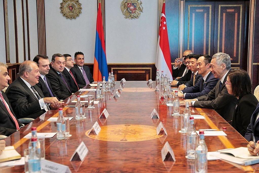 Hubungan S'pura, Armenia diperkukuh dengan perjanjian dagangan