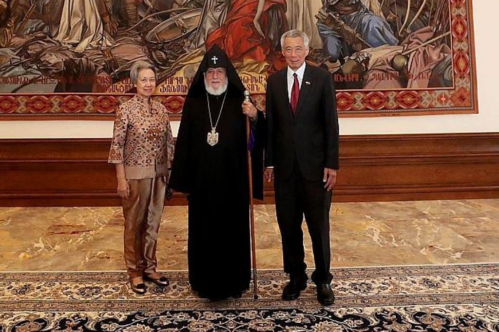 PM Lee temu ketua agama di Armenia
