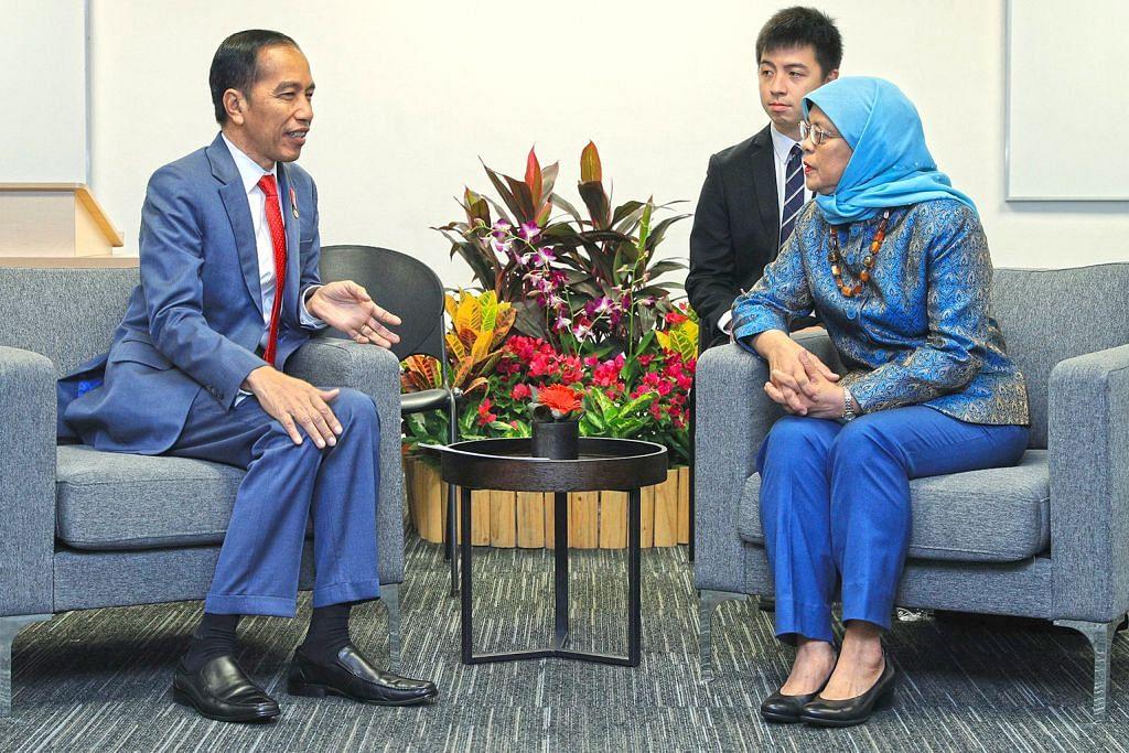Presiden Halimah, Presiden Jokowi alu-alukan usaha perkukuh hubungan