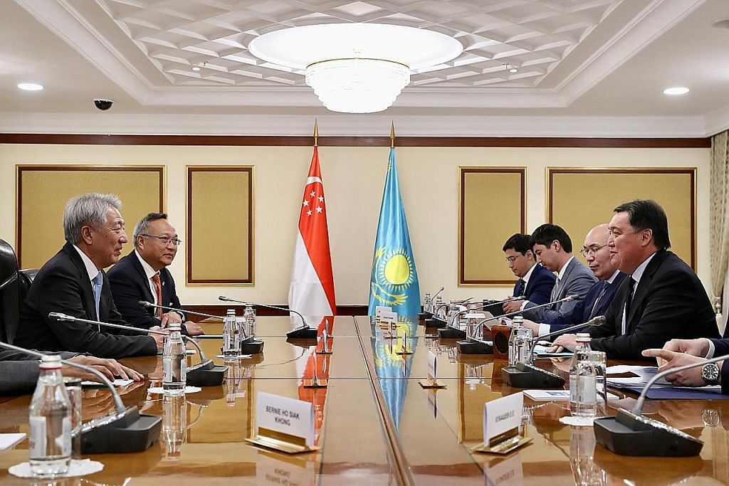 EKONOMI S'pura harap capai persetujuan awal ekonomi dengan Kazakhstan