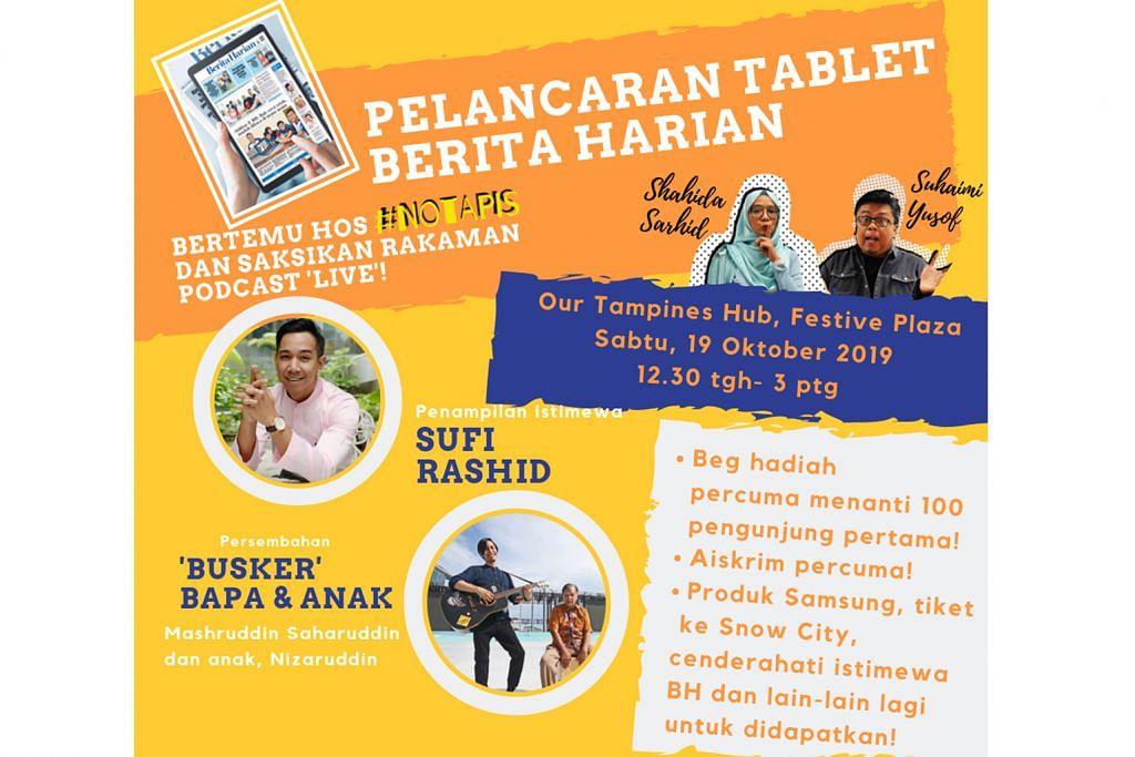 Acara mesra keluarga di OTH sempena pelancaran Tablet BH