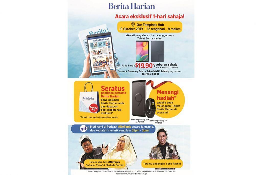 PELANCARAN TABLET BH Tablet BH dapat sambutan baik, acara pelancaran di OTH esok