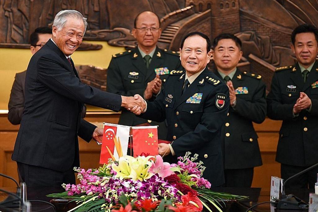 S'pura, China pertingkat kerjasama pertahanan rangkumi latihan tentera, dialog