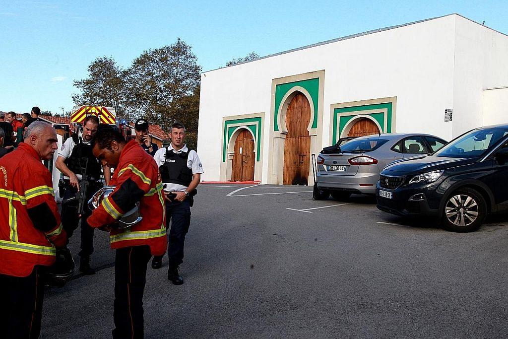 Lelaki bakar masjid, tembak dua orang di Perancis