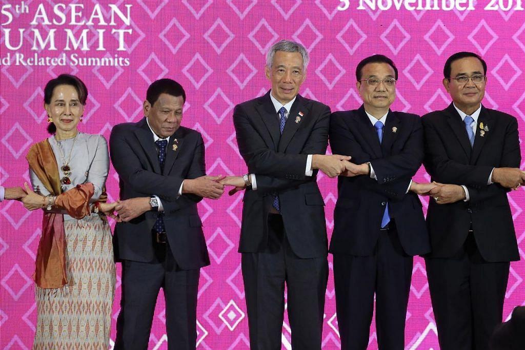 SIDANG PUNCAK ASEAN China sedia kerjasama dengan Asean capai keamanan Laut China Selatan