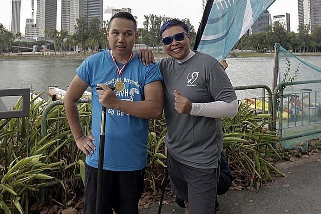 DB HEARTS CHALLENGE 2019 Giat dalam sukan lasak walau kurang daya penglihatan