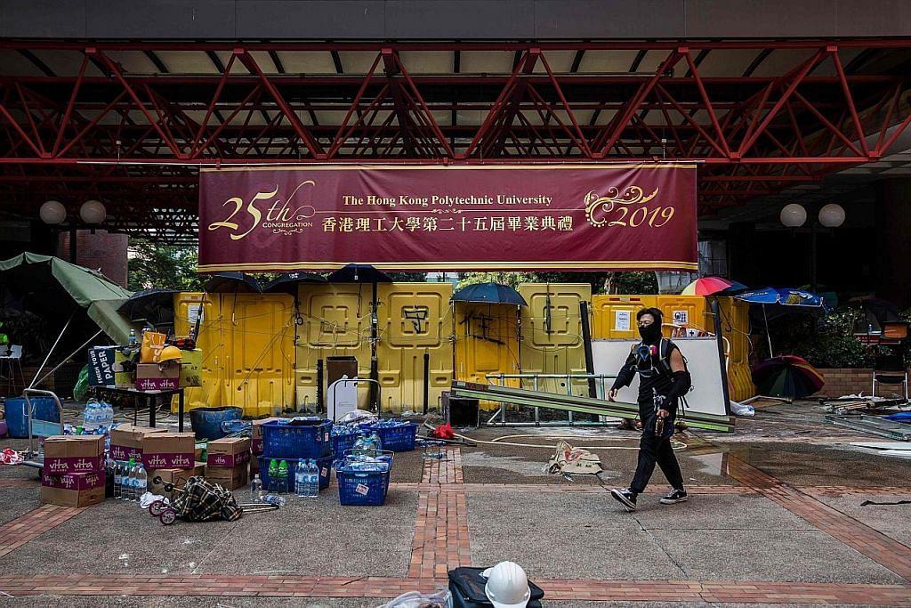 Bantahan lumpuhkan HK buat hari keempat