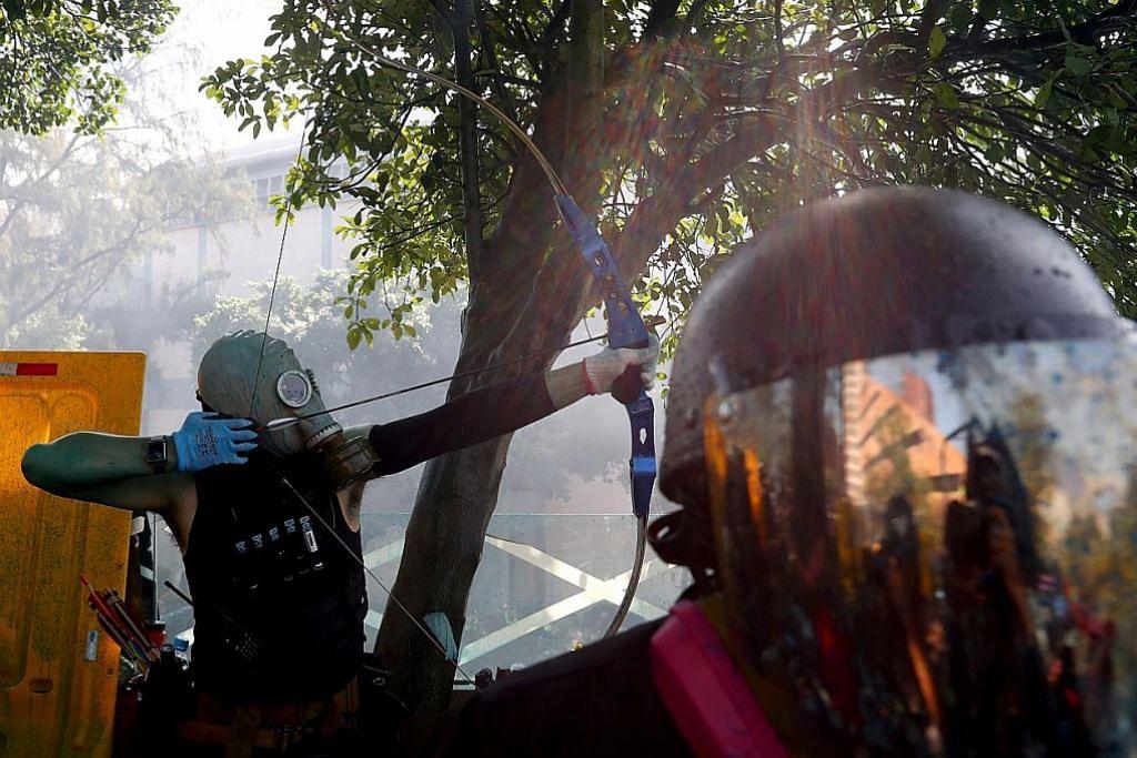 Polis lepaskan tiga tembakan, akan bertindak jika diserang PERGOLAKAN DI HONG KONG
