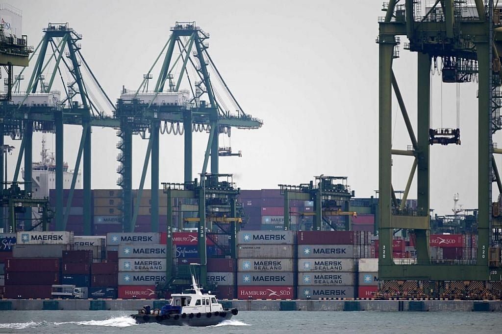 Eksport bukan minyak S'pura susut 12.3% bulan lalu