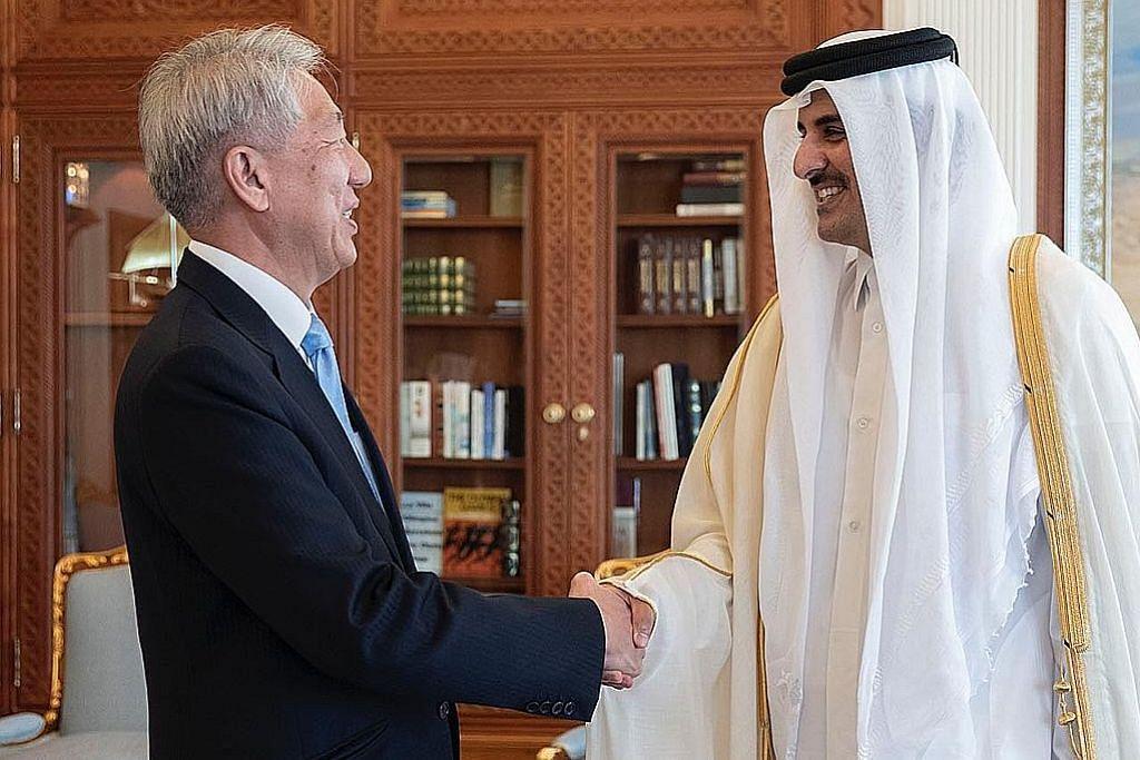 S'pura, Qatar tingkat ikatan mesra, kerjasama