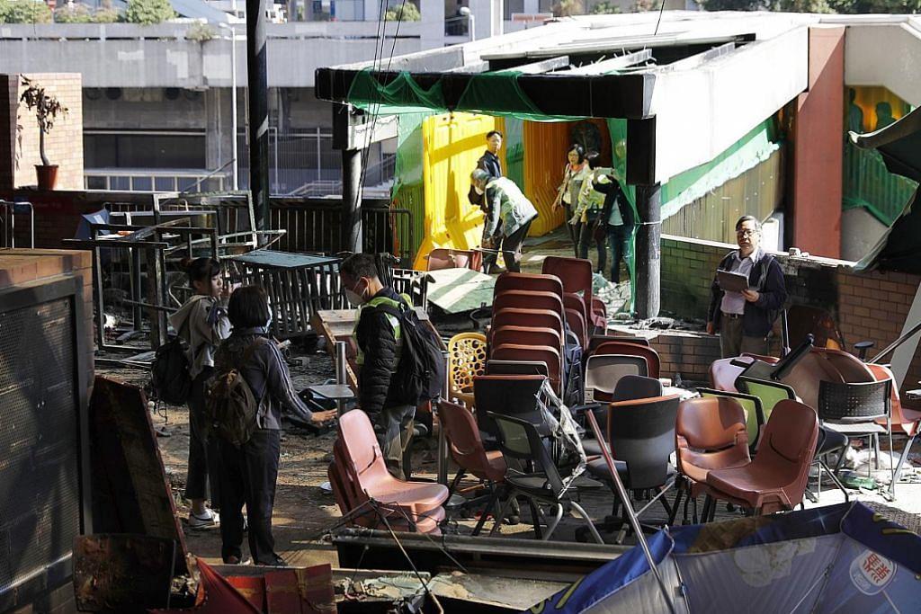 Polis bakal tamatkan kepungan atas Universiti Politeknik HK