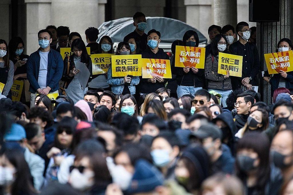 Pekerja kolar biru HK pula anjur bantahan di pusat bandar