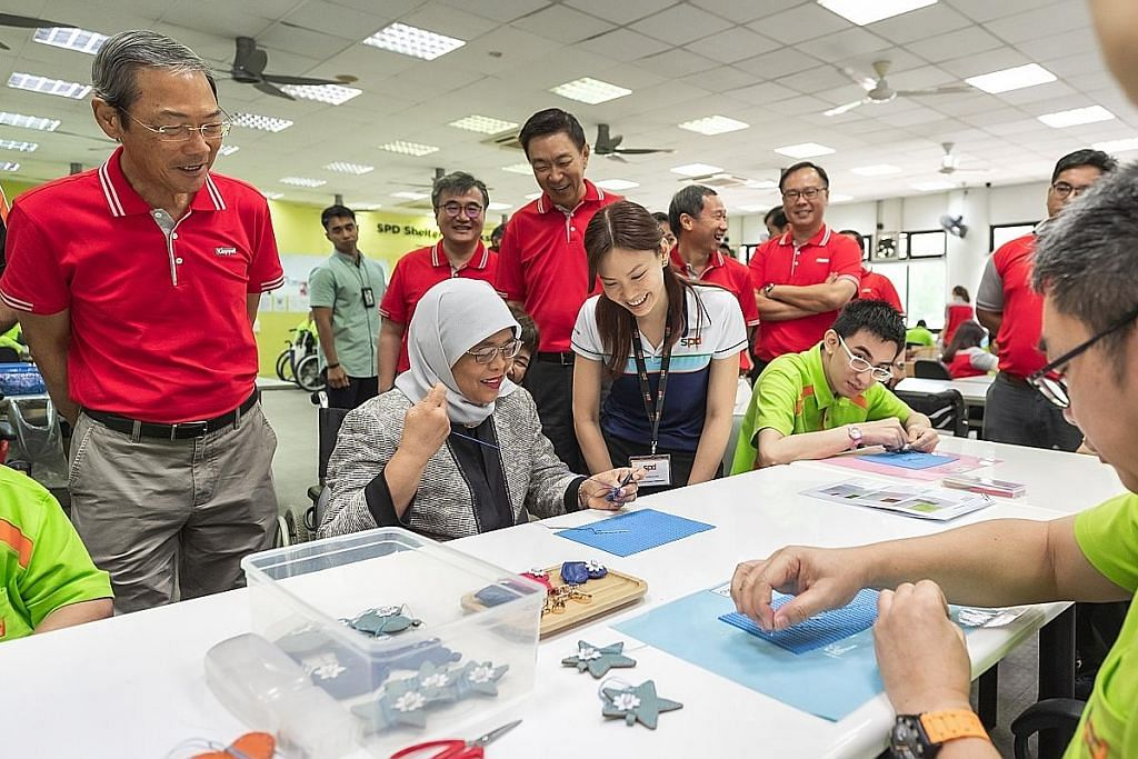 Presiden Halimah lancar kerjasama Keppel-SPD bantu orang kurang upaya