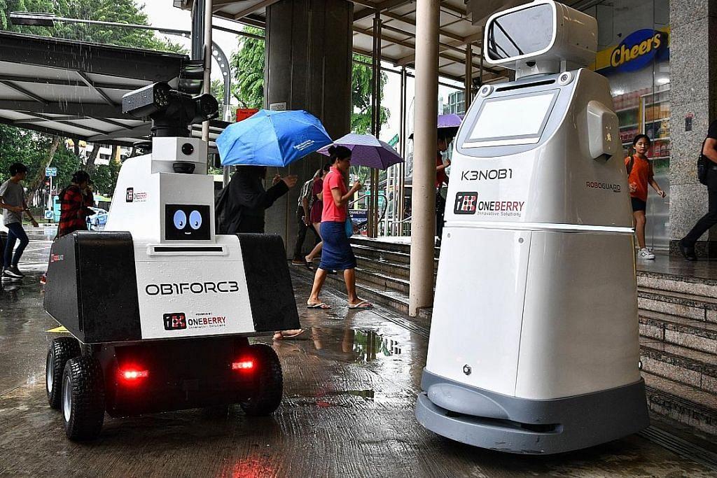 Robot sertai latihan keselamatan di MRT AMK