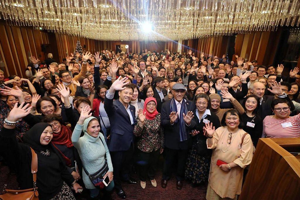 Presiden Halimah kunjungi firma Jerman, luang masa bersama rakyat S'pura